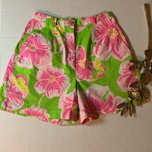 Lilly Pulitzer Floral Shorts Size 4